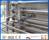 1000LPH 5000LPH SS 304 SS316L Tubular Uht Processing Equipment For Milk / Juice Production