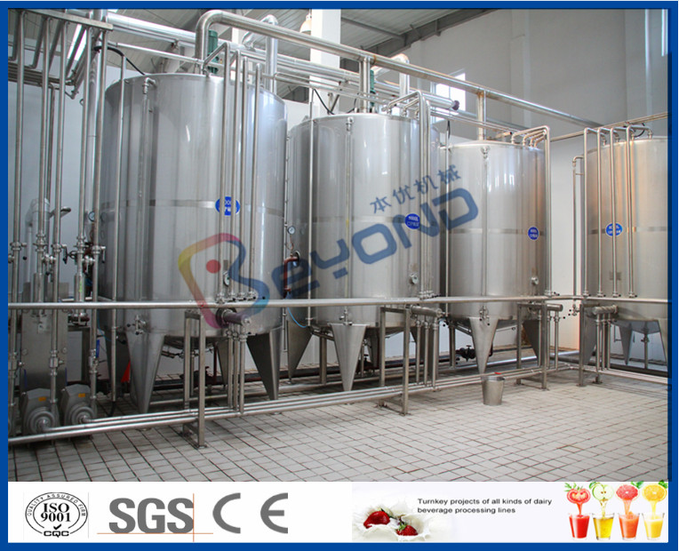 2000LPH thick texture  greek Yogurt Making Equipment , 150 - 600kw Industrial Yogurt Maker