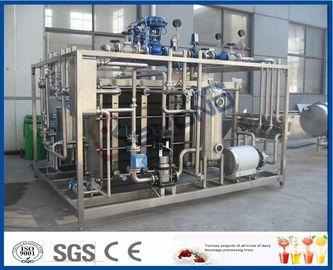 Plc Touch Screen Susu Pasteurization Equipment Dengan Plate Heat Exchanger